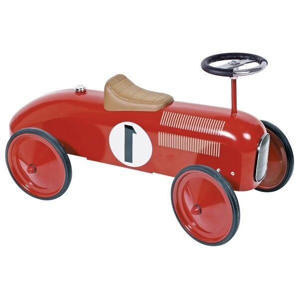 Goki - Rutscherfahrzeug Rutschauto aus Metall und Kunststoff in Rot