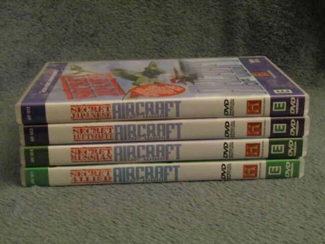 Secret Aircraft Of World War 2 (DVD, 2008). FOUR DVD Set.