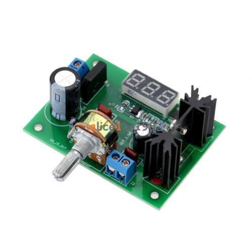 Air Conditionné//Courant Direct LM317 Step-Down régulateur de tension Module d/'alimentation DEL voltmètre