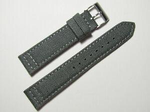 20mm-Hadley-Roma-ms850-Herren-grau-Cordura-Canvas-Watch-Band-Strap