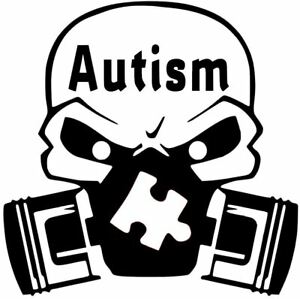 Autism Angry Pig Hog Decal Awareness Car Truck Vinyl Sticker 12 Colors