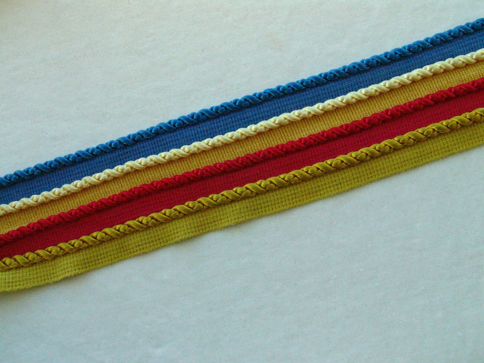 """Beautiful 3//8/"""" Silky Rayon Lip Cord Trim ~ Sold By the Yard ~ CHOICE of COLORS"""