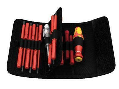 Wera Tools 1000v Electrician VDE Interchangeable Blade Screwdriver Set In Pouch