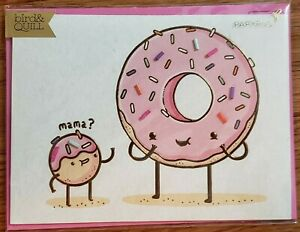 Papyrus-Mother-039-s-Day-donut-greeting-card-New-in-packaging-bird-amp-Quill