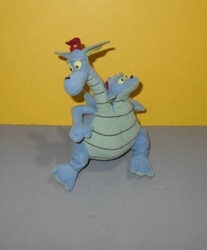 "8"" Quest for Camelot Devon & Cornwall 2-Headed Dragon 1998 Playworks Bean Plush"