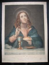 Mezzotinto Radierung v. Richard Earlom: Salvator Mundi 1797/Etching Christ Dolci