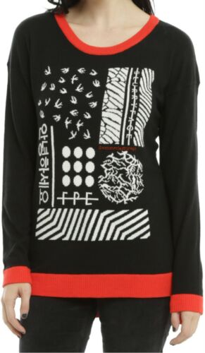 Licensed Twenty One Pilots Blurryface Intarsia Sweater For Juniors New!