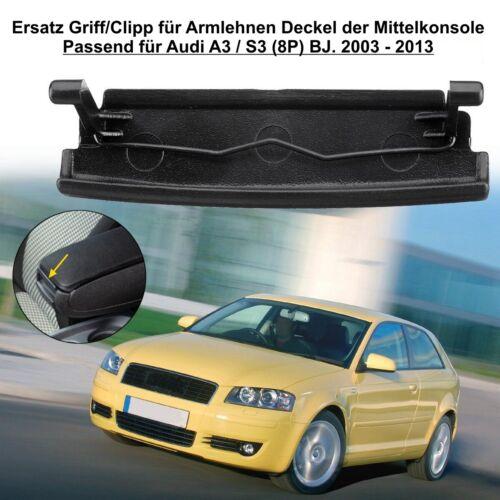 Mittelarmlehne Armlehne Deckel Reparatursatz Verriegelung Audi A3 S3 8P S-Line