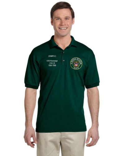 US Navy Personalized Custom Embroidered Men/'s Polo Shirt NWT