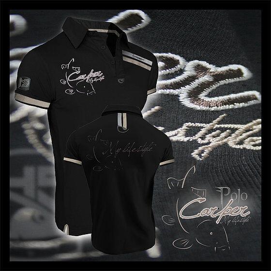 Hotspot Design Poloshirt CARPER Anglershirt, Angelshirt