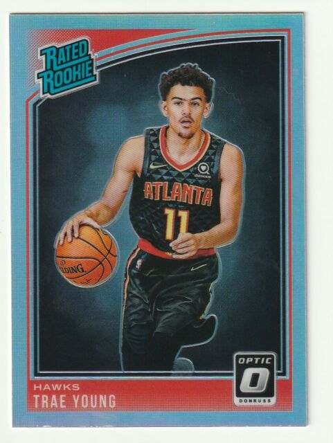 2018-19 Panini Optic Trae Young Rated Rookie RC Holo Silver Prizm #198 Hawks