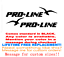 "PAIR OF 39.5/"" Proline Boat Hull Decals MARINE GRADE YOUR COLOR CHOICE 58"