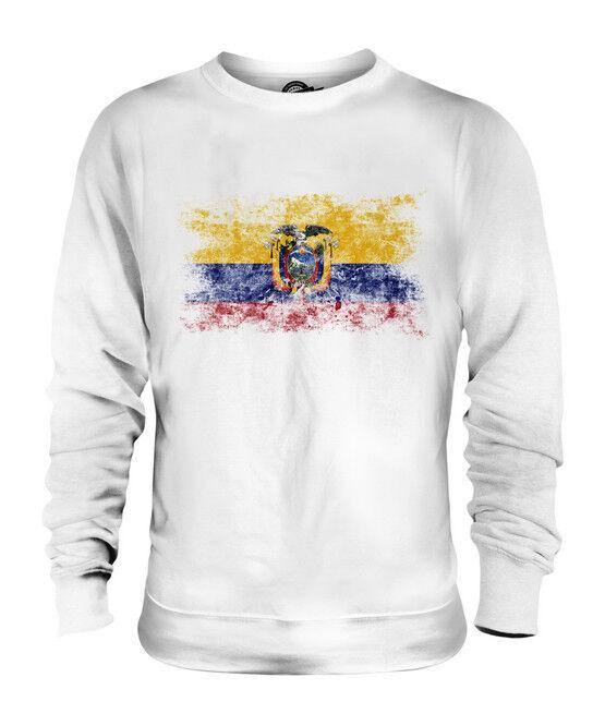 ECUADOR WEINLESE FLAGGE UNISEX SWEATER PULLOVER PULLI SWEATSHIRT HERREN DAMEN