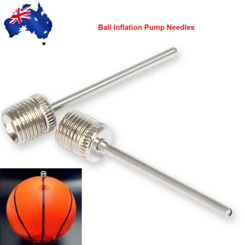 2x Ball Inflation Pump Needle Air Adapter Valve Connection Basketball Football