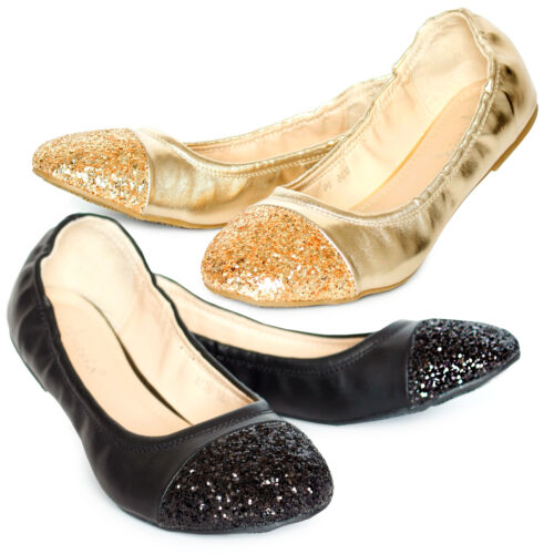 Womens Ballerina Ballet Dolly Pumps Ladies Flat Black Loafers Shoes Size New Uk