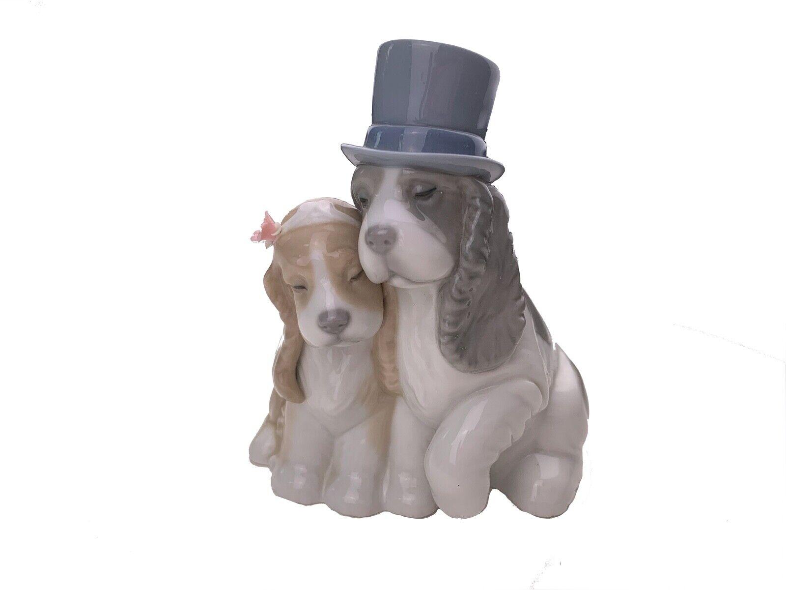 Together Forever Porzellanfigur Hunde Hochzeit Bräutigam Braut