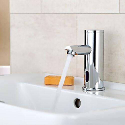 Infrarot Design Wasserhahn IR Automatik Waschbecken für Kaltwasser Sanlingo