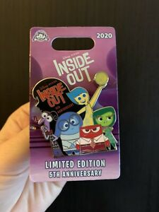 Inside-Out-Joy-Sadness-Anger-Disgust-5th-Anniversary-Disney-Pin-Limited-LE-3000