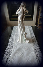 "Dresser Scarf  Table Runner Ivory Princess Lace European Doily 54""x15"""