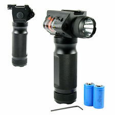 Tactical Vertical Foregrip w/ LED Flashlight / Red Laser Sight & 20mm Rail Mount