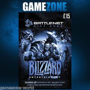15 Battle.net Gift Card Key - 15 GBP Pounds UK Battle Net Blizzard ...
