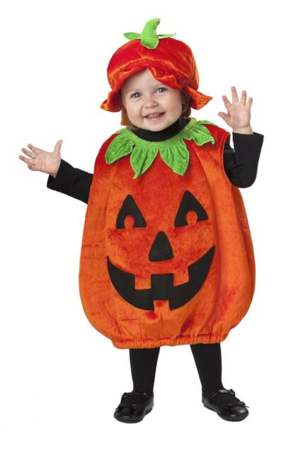 Baby Pumpkin Patch Cutie Costume Halloween Toddler Costume Outfit 12-24 mnths