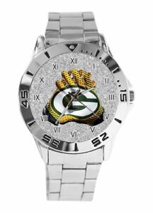 NFL-Green-Bay-Packers-Watch-Men-039-s-Stainless-Steel
