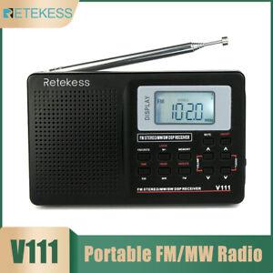 Portable DC 5V Digital Stereo MW SW Radio FM AM Shortwave Multi Band Receiv