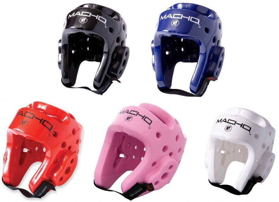 Macho Dyna Karate Tae Kwon Do Headgear Sparring Helmet Head Guard S M L XL 2XL