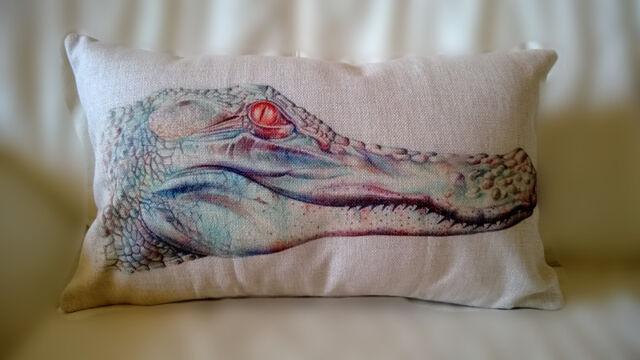 Vintage Cotton Linen Cushion Cover Pillow Case Home Decor Crocodile