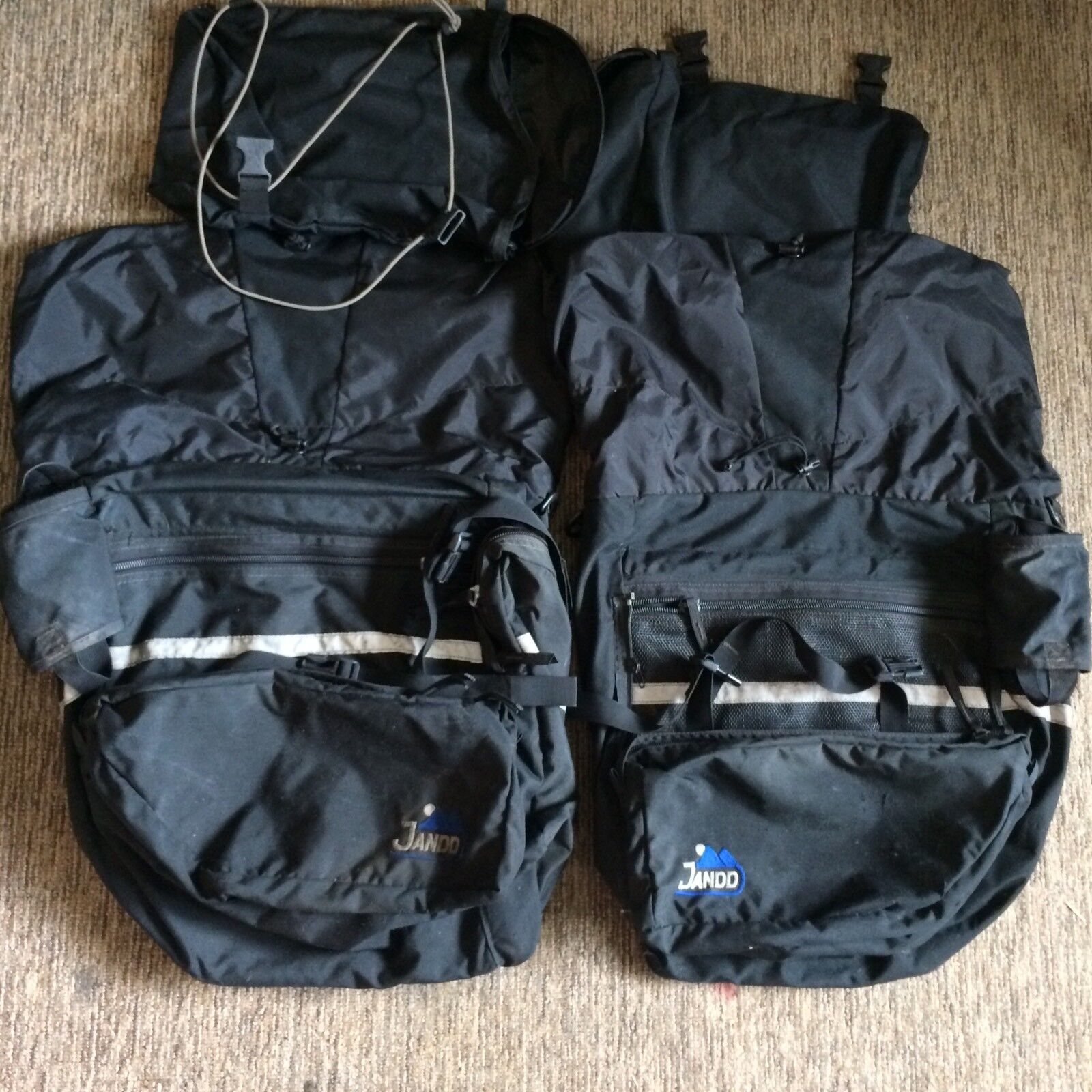 JANDD Pair Of Large Mountain Expedition Panniers Biking Hiking Camping FMEP