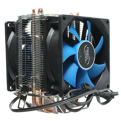 Dual Fan CPU Cooler Heatsink quiet for Intel LGA775/1156/1155 AMD AM2/AM2+/AM3