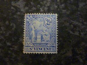 ST VINCENT POSTAGE STAMP SG97 2 1/2D BLUE MOUNTED-MINT