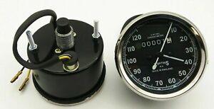 Vintage-Replica-Smith-Speedometer-0-120-Mph-BSA-Royal-Enfield-Norton-Chrome-Rims