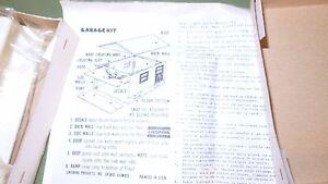 Lindberg Ho 1:87 Garage Pour 2 Voiture Avec Porte- Grill En Kit Peut êTre à Plusieurs Reprises Replié.
