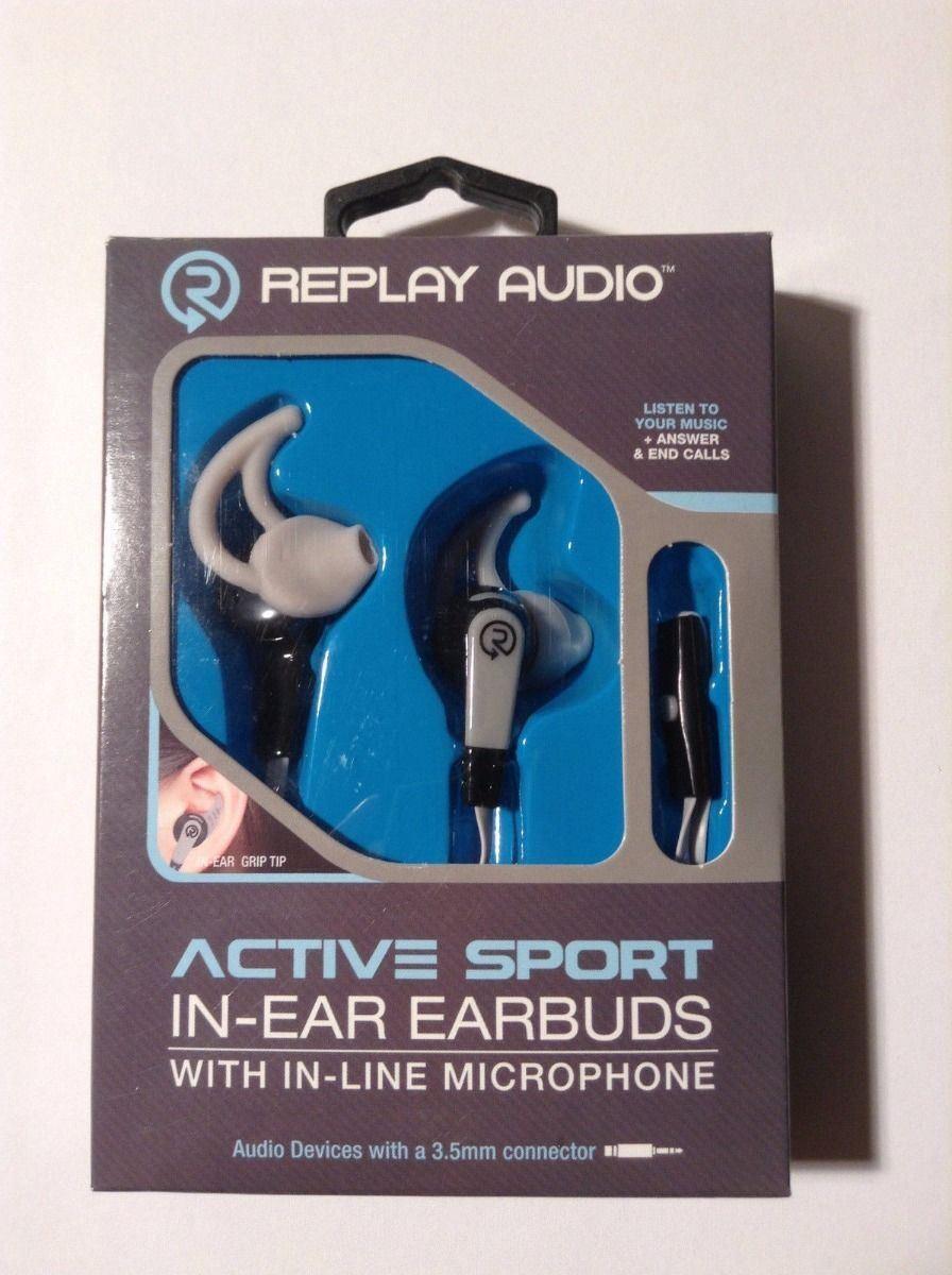 fc582c6a147 Replay Audio Active Sport in - Ear Earphones Line Microphone Volume ...