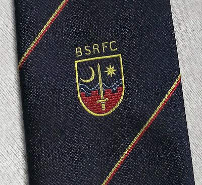 Discreto Vintage Rugby Cravatta Da Uomo Cravatta Retro Sport Bsrfc Navy-mostra Il Titolo Originale Originale Al 100%
