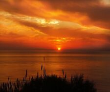 BEAUTIFUL ORANGE SUNSET  MOUSE PAD  IMAGE FABRIC TOP RUBBER BACKED