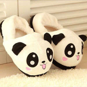 a61ea1741 Women Cute Panda Eyes Slippers Lovely Cartoon Indoor Home Soft Shoes ...