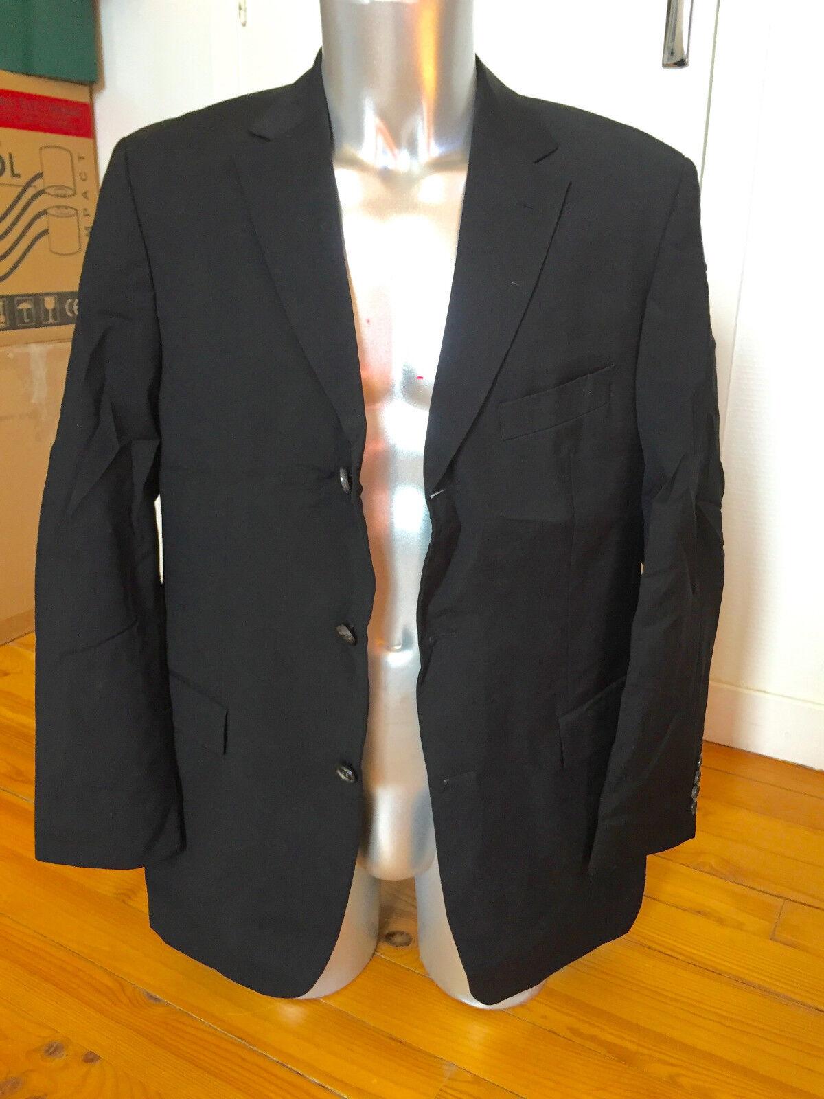 HUGO BOSS rossellini giacca per abito lana nero TAGLIA 50 di alta qualità