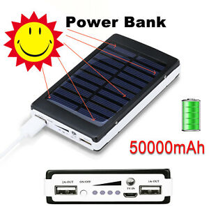 NEW-50000mAh-Solar-Power-Bank-Panel-2-USB-Portable-Pack-Charger-for-Mobile-Phone