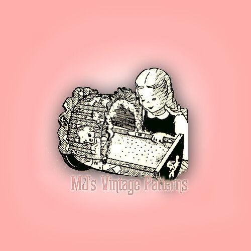 Vintage Baby Dolls Cradle Pattern