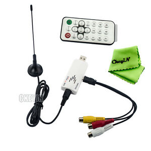 USB-Global-Analog-TV-Tuner-Dongle-PAL-NTSC-SECAM-with-Remote-Controller