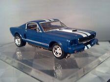66 FORD MUSTANG FASTBACK Blue GT-R 347 SHELBY White Ho Slot Car Custom wheels