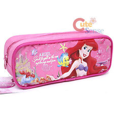 Disney Princess Little Mermaid Ariel Pencil Case Zipppered Pouch Bag - Pink