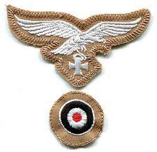 WWII German Luftwaffe Cap Set Eagle Iron Cross White on Tan Afrika Korps Repro