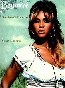 BEYONCE 2007 EXPERIENCE WORLD TOUR CONCERT PROGRAM BOOK BOOKLET / NMT 2 MNT