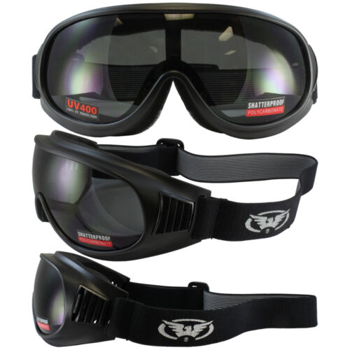 Trump Skydive Motorcycle Goggles Global Vision Shatterproof Len Smoked U400