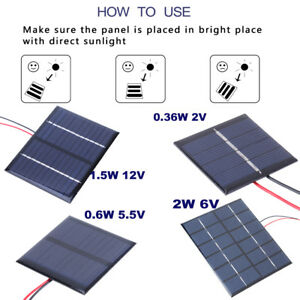 Consumer Electronics Chargers Portable 2w 6v 330ma Polysilicon Diy Solar Power Panel Battery Panel Kit For Light Battery Cell Phone Toys Chargers Kit
