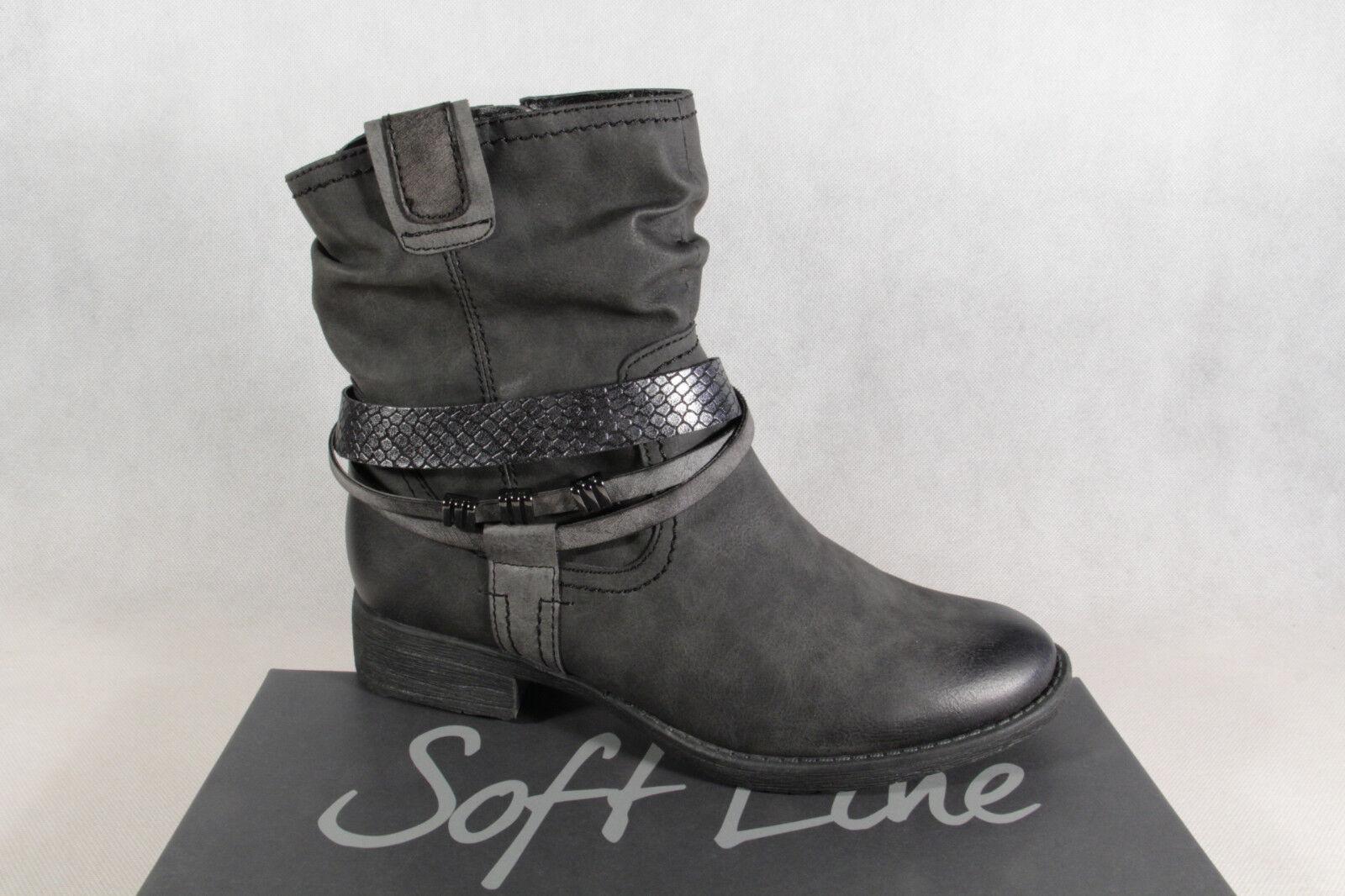 Soft Line Stiefel by Jana Stiefel Stiefelette Stiefel Line Winterstiefel grau NEU 3e0091